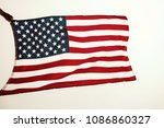 american flag in sunset | Shutterstock . vector #1086860327