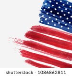 usa abstract flag brushed... | Shutterstock . vector #1086862811