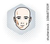 man face  human head. vector... | Shutterstock .eps vector #1086873539
