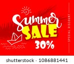 summer sale template design ... | Shutterstock .eps vector #1086881441