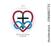 everlasting love of god vector... | Shutterstock .eps vector #1086882731