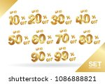sale tags set vector badges... | Shutterstock .eps vector #1086888821
