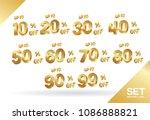sale tags set vector badges... | Shutterstock .eps vector #1086888821