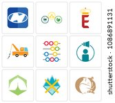 set of 9 simple editable icons... | Shutterstock .eps vector #1086891131