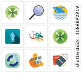 set of 9 simple editable icons...   Shutterstock .eps vector #1086892919