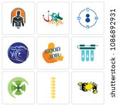 set of 9 simple editable icons...   Shutterstock .eps vector #1086892931