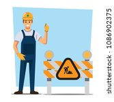 technician and builders and... | Shutterstock .eps vector #1086902375