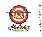 archery logo with text space... | Shutterstock .eps vector #1086904007