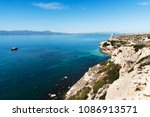 a view of the coast of sant... | Shutterstock . vector #1086913571
