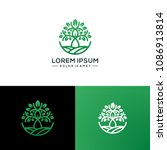 abstract tree logo template...   Shutterstock .eps vector #1086913814