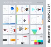 abstract double page brochure... | Shutterstock .eps vector #1086921869