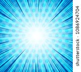 comic book page blue light... | Shutterstock .eps vector #1086924704