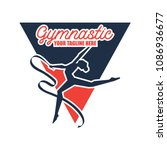 gymnastic sport logo with text... | Shutterstock .eps vector #1086936677
