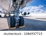 landing gear of an modern...   Shutterstock . vector #1086937715
