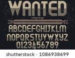 vintage font typeface vector... | Shutterstock .eps vector #1086938699