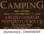 vintage font handcrafted vector ... | Shutterstock .eps vector #1086938705