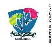 paragliding logo with text... | Shutterstock .eps vector #1086940247