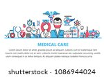 flat line design website banner ... | Shutterstock .eps vector #1086944024
