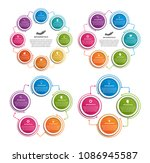 collection infographics. design ... | Shutterstock .eps vector #1086945587