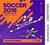 modern soccer design template | Shutterstock .eps vector #1086950585