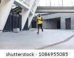 handsome afro american runner...   Shutterstock . vector #1086955085