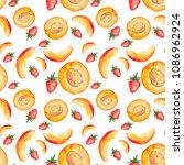 lemon  lime  mint  peach ...   Shutterstock . vector #1086962924