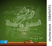 back to school  vector eps10... | Shutterstock .eps vector #108696551