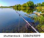 fishing on the lake   Shutterstock . vector #1086969899