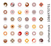 design elements set. abstract...   Shutterstock .eps vector #1086970751
