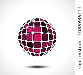 abstract globe design icon.... | Shutterstock .eps vector #1086986111