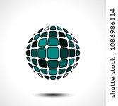 abstract globe design icon.... | Shutterstock .eps vector #1086986114