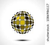 abstract globe design icon.... | Shutterstock .eps vector #1086986117