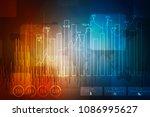 2d rendering stock market...   Shutterstock . vector #1086995627