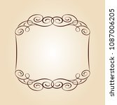 vector retro frames .vector... | Shutterstock .eps vector #1087006205