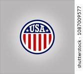 usa logo concept | Shutterstock .eps vector #1087009577