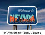 Welcome To Nevada Road Sign...