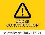 under construction text with a... | Shutterstock . vector #1087017791