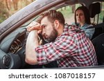 girl is arguing with her... | Shutterstock . vector #1087018157