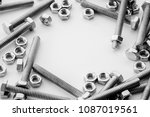 screws  stainless nuts and... | Shutterstock . vector #1087019561