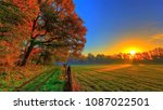 sunrise in the countryside | Shutterstock . vector #1087022501