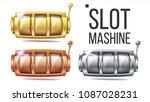 empty slot machine set vector.... | Shutterstock .eps vector #1087028231
