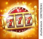 slot machine banner vector....   Shutterstock .eps vector #1087028261