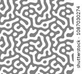 gray and white seamless pattern | Shutterstock . vector #1087030274