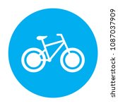 bicycle icon. bike icon. vector ... | Shutterstock .eps vector #1087037909