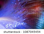 fiber optic cables  | Shutterstock . vector #1087045454