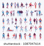 vector illustration in a flat... | Shutterstock .eps vector #1087047614