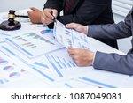 attorneys giving consultation... | Shutterstock . vector #1087049081