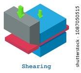 shearing metalwork icon.... | Shutterstock . vector #1087050515