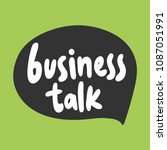 business talk. sticker for... | Shutterstock .eps vector #1087051991