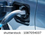 electric vehicle charging... | Shutterstock . vector #1087054037